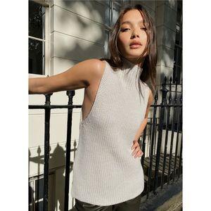 Aritzia Babaton Hiram Sweater Light Grey